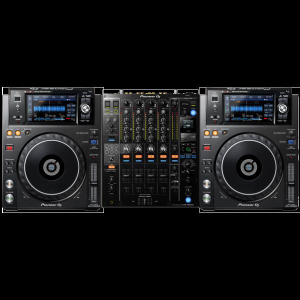 Pioneer XDJ-1000 Set 2 - 2 x XDJ-1000MK2 + 1 x DJM-900NXS2