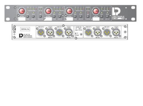 LAKE PEOPLE MIC-AMP F366D 4-KANALPREAMP