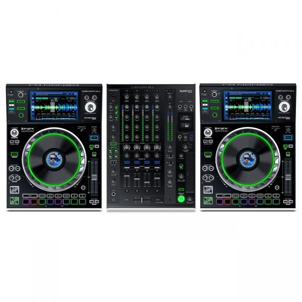 Denon DJ 2 x SC5000 + 1 x X1800