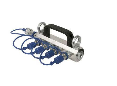 Showtec CO2 3/8 Q-Lock 4-way distributor