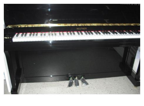 Klavier Marke Reutner 110, schw. poliert