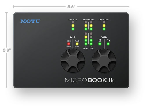 Motu Micro Book IIC USB 2.0 Audio-Interface