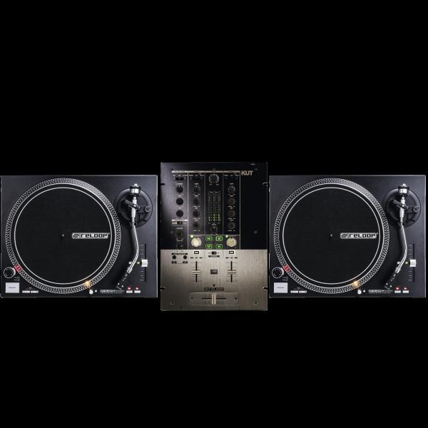 Reloop DJ Set 2 - 2 x RP-4000MK2 + 1 x Kut Battle Mixer