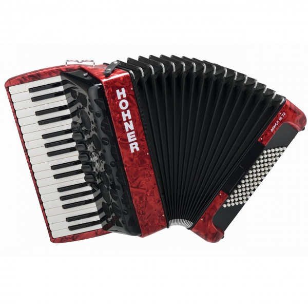 Hohner Amica III 72 Design 2 rot